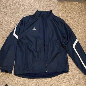 Men's adidas lg windbreaker/track jacket navy